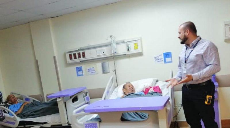 Recorridos diarios, Dr. Giusseppe Alcívar, gerente del Hospital Verdi Cevallos.