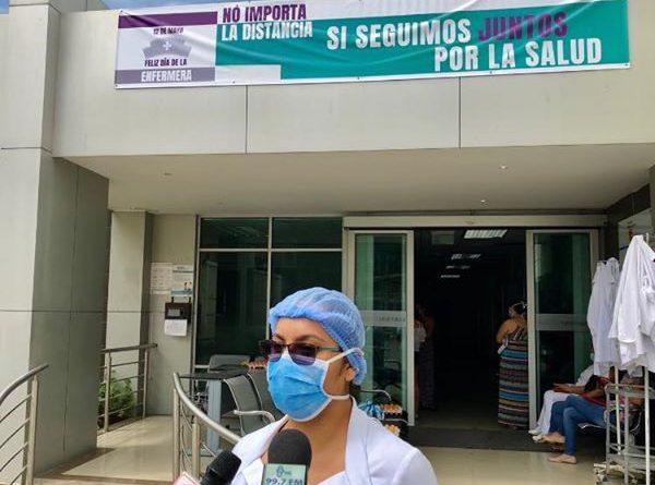 Mayra Lara, enfermera del Hospital Dr. Verdi Cevallos Balda