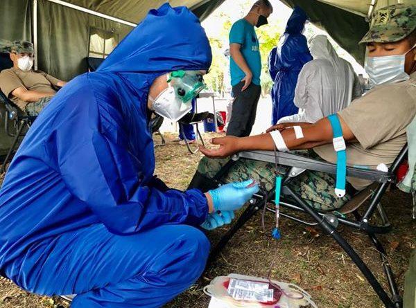 """Jornada de donación voluntaria de sangre en el Fuerte Militar """"Manabí"""""""